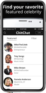 chitchat app screen