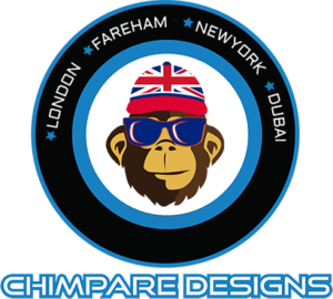 Chimpare Designs latest Logo